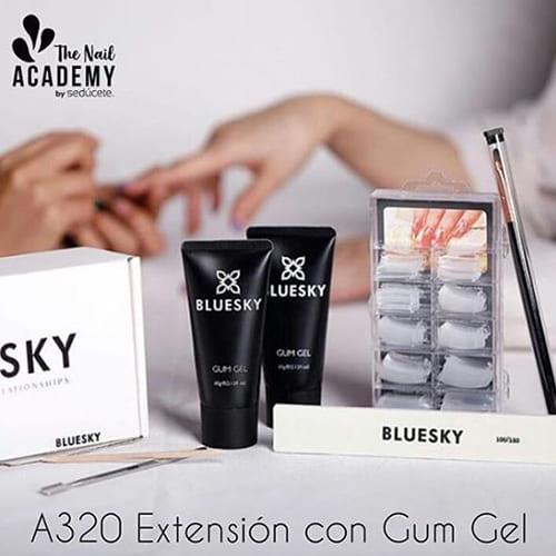 A320 - Extensión con Gum Gel Bluesky