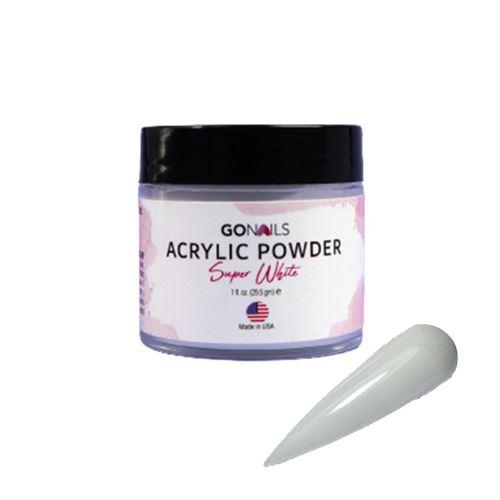 Acrílico Go Nails Premium Super White 28 gr