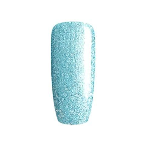 BLUESKY Esmalte Gel 80612 Celeste metalico con glitter plateado