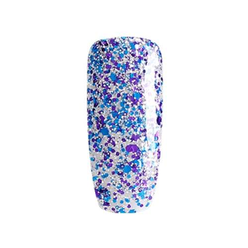 BLUESKY Esmalte Gel SP11 Glitter Plateado Azul y Morado