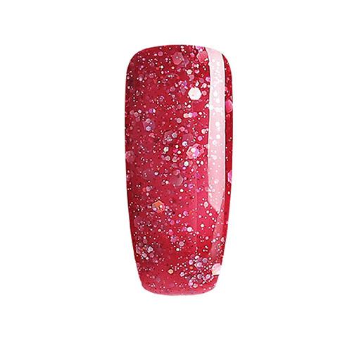BLUESKY Esmalte Permanente BLZ35 Rojo Frambuesa Glitter Mix