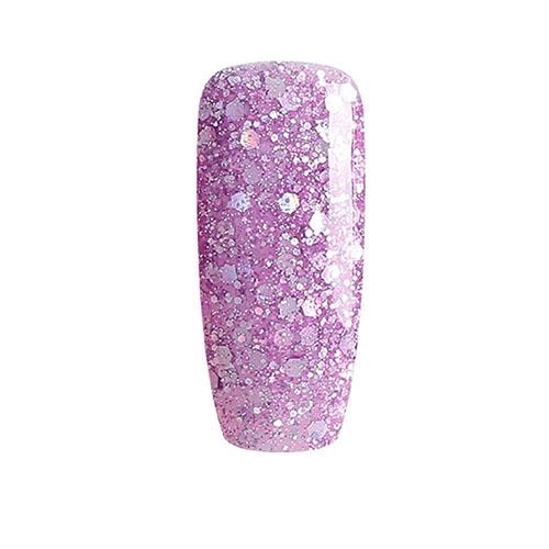BLUESKY Esmalte Permanente BLZ48 Lila - Rosado Glitter Mix