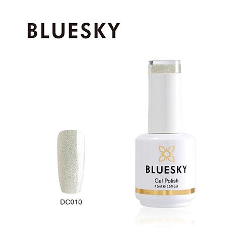BLUESKY Esmalte Gel DC10 Transparente tornasol con mix de glitter