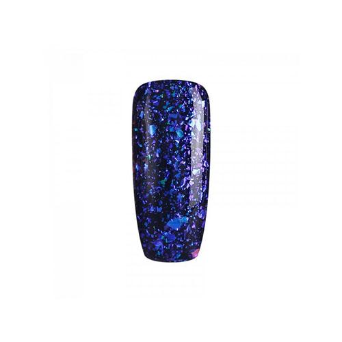 BLUESKY Esmalte Permanente Galaxy 05  Esmalte Transparente con Papel metálico tornasol Morado azulado