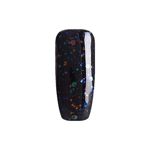 BLUESKY Esmalte Gel LT123 Negro con Glitter Colores Grandes