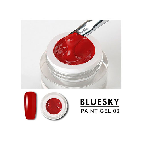 BLUESKY Gel Paint para diseño - 03 ROJO