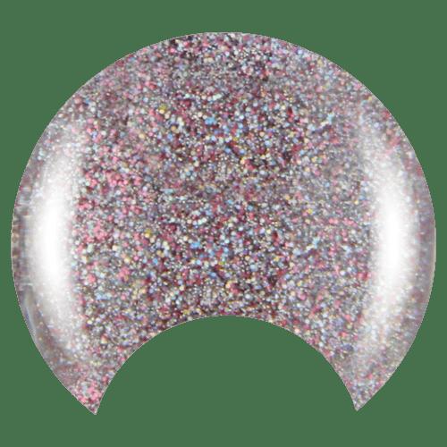 COLOR CLUB Esmalte Gel - Magic Attraction (Glitter rosado y plateado)