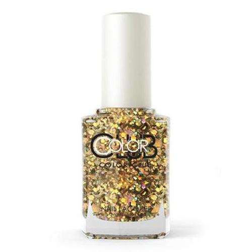 COLOR CLUB Tradicional - You Rock (Glitter plateado y dorado multi-tamaño)