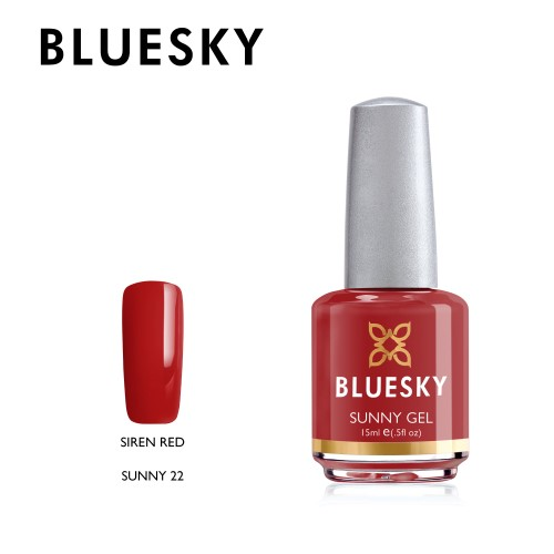Esmalte tradicional Bluesky - Sunny22 Siren Red - Rojo italiano (DC39)