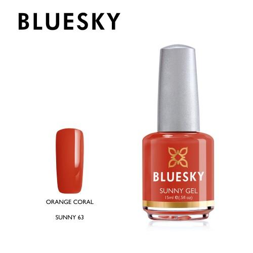 Esmalte tradicional Bluesky - Sunny63 Orange coral - naranjo (DC33)