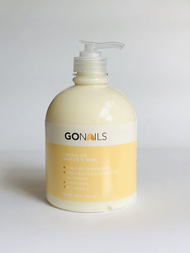 GO NAILS Crema de manos y pies 500ml Limón Coco