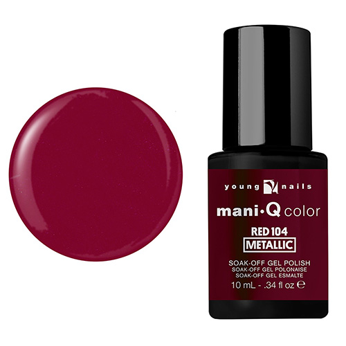 Mani-Q Esmalte Gel - Red 104 metalico