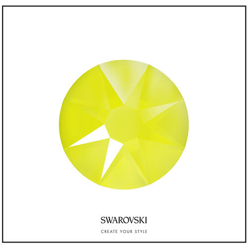 Swarovski 50 Cristales - Crystal Electric Yellow SS12