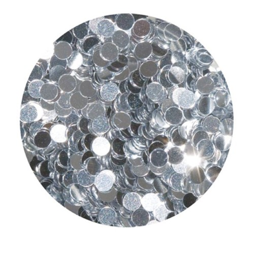 Young Nails Confetti  7g Silver Polka Dot